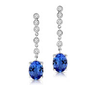 Diamond Tanzanite Drop Earrings - Ainsley | Rental Price - $135.00