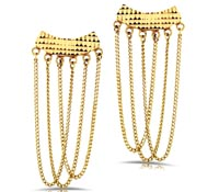 Gold Dangle Earrings - Rent Jewelry | Rental Price - $100.00