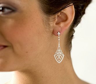 Rent bridal jewelry - Diamond Chandelier Earrings