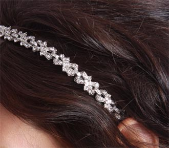 Rent bridal jewelry - Swarovski Crystal Headband