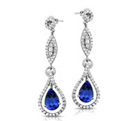Diamond Earrings - Grantham Earrings - Tanzanite | Rental Price - $190.00