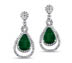 rent fine jewelry - Diamond Emerald Chandelier Earrings | Rent for $160.00