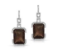 Latham Diamond and Quartz Earrings | Rental Price - $120.00
