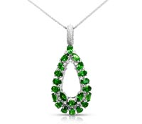 Tsavorite Diamond Pendant - Rent Jewelry | Rental Price - $140.00