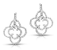 Diamond Dangle Earrings - Rent Jewelry | Rental Price - $160.00