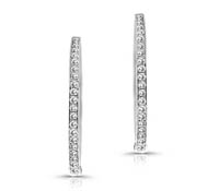 Pemberton Classic Diamond Hoop Earrings | Rental Price - $130.00