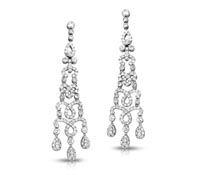 Diamond Chandelier Earrings - Sonia | Rental Price - $180.00