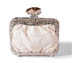 Rent Clutches - Pearl White Leather - Sofia Clutch | Rent for $95.00
