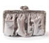 Rent Clutches - Silver Glitter Leather - Clara Clutch  | Rent for $90.00