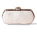 Rent Clutches - Pearl White Leather - Jackie Clutch | Rent for $90.00