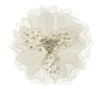 Rent Hair Accessory - Ivory Silk Flower - Countess 760 | Rental Price - $65.00