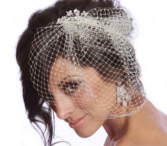 Rent jewelry - French Veiling | 2 Layers | Height Top Layer 9 Inches, Bottom 10 Inches | Width 11 inches | Comb Width 4 inches