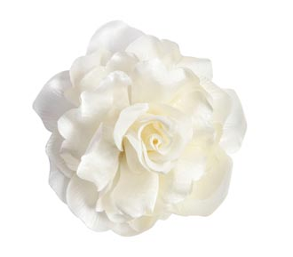 Wedding hair accessory silk flower 45 rent jewelry silk flower white 4 inches in diameter mightylinksfo