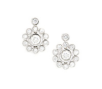 Borrow Occasion Jewelry - Cluster Bezel Diamond Earrings | Rental Price - $130.00