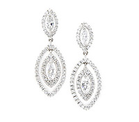 Rent Special Occasions Jewelry: Dangle Marquis Diamond Earrings  | Rental Price - $170.00