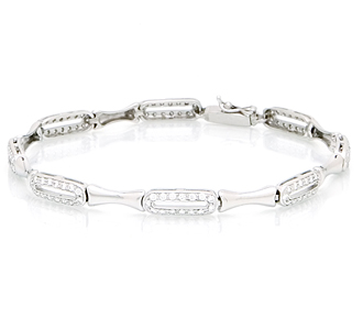 442f5757f2f18 Rent Jewelry: Elegant Diamond Bracelets in White Gold