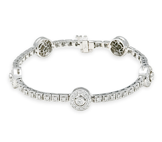 bridal jewelry diamond bracelet white gold l24 Diamond Bracelets