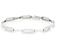 White Gold Diamond Bracelet: Borrow Jewelry for Special Occasions | Rental Price - $85.00