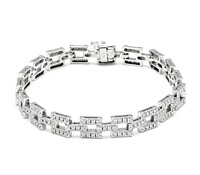 Trendy Chic Diamond Bracelet: Rent Jewelry for Special Occasions | Rental Price - $160.00