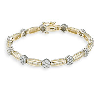 Borrow Special Occasion Jewelry: Rosette Diamond Bracelet | Rental Price - $160.00