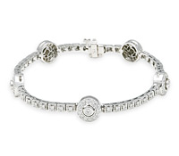 Borrow Jewelry: Medallion Diamond Bracelet | Rental Price - $190.00