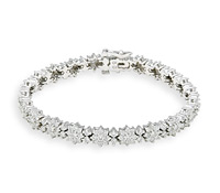 Rent Jewelry: Unique Flower Diamond Bracelet | Rental Price - $200.00