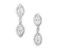Borrow Occasions Jewelry: Superb Marquis Diamond Earrings | Rental Price - $160.00