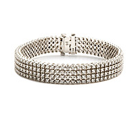 4-Strand Princess Cut Diamond Bracelet - Rent Special Occasions Jewelry | Rental Price - $360.00