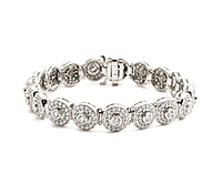Round Bezel Diamond Bracelet - Borrow Special Occasions Jewelry | Rental Price - $220.00