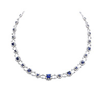 Borrow Jewelry: Sapphire and Diamond Necklace | Rental Price - $990.00