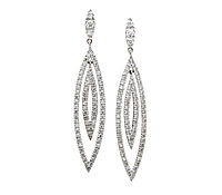 Rent Occasion Jewelry: Unique Diamond Earrings  | Rental Price - $130.00