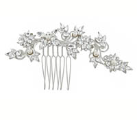 Rent Hair Combs - Swarovski Crystal Pearl - Anne | Rental Price - $65.00