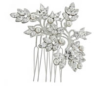 Rent Hair Combs - Swarovski Crystal Pearl - Caroline 707 | Rental Price - $50.00