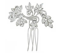 Rent Hair Combs - Swarovski Crystal Pearl - Amelia 708 | Rental Price - $45.00