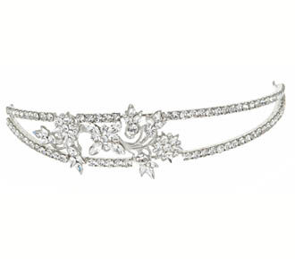 Rent jewelry - Swarovski Crystals | Width 1 1/2 Inches Length 8 Inches