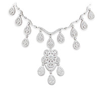 Lockwood Diamond Chandelier Necklace - Occasion Jewelry Rental | Rental Price - $270.00