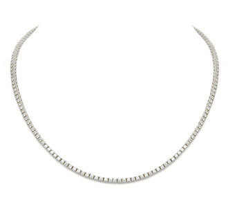 Rent jewelry - Diamonds: 6.00 TW - 4-Prong 2.25mm| Gold: 18K White | Length: 16 in.
