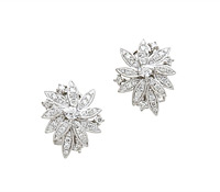 Shaye Diamond Cluster Earrings - Rent Special Occasion Jewelry! | Rental Price - $160.00
