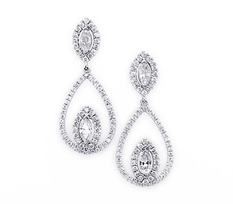 Rent jewelry - Diamonds: 1.76 TW | Gold: 18K White | Length: 1 5/16 in.