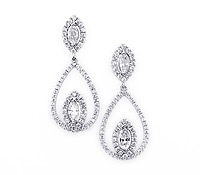 Special Occasions Jewelry Rental: Abbott Diamond Drop Earrings | Rental Price - $160.00
