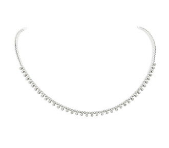 Rent jewelry - Diamonds: 1.18 TW | Gold: 18K White | Length: 16 in. | Width: 1/8 in