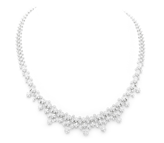 Rent jewelry - Diamonds:  2.74 TW | Gold: 18K White | Length: 16 in. | Width: 3/4 in.