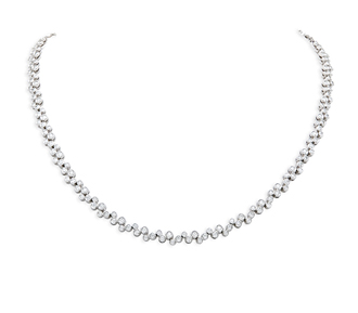 Rent jewelry - Diamonds: 4.00 TW | Gold: 14K White | Length: 16 in. | Width: 1/4 in.