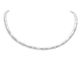 Rent jewelry - Diamonds: .56 TW | Gold: 18K White | Length: 16 in. | Width: 1/8 in.