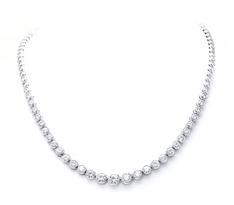 Rent jewelry - Diamonds: 12.00 TW | Gold: 18K White | 16 in. | Width: 1/4 in.