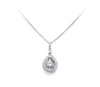 Bridal jewelry diamond pendant in white gold adorn brides rent jewelry diamonds 53 tw gold 18k white length mozeypictures Image collections