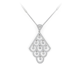 Borrow bridal jewelry adkins deco diamond pendant necklace rent jewelry diamonds 1 03 tw gold 18k white length aloadofball Gallery