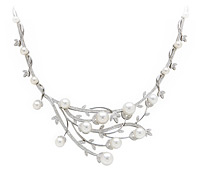Diamond Pearl Necklace Bridal Jewelry Rental | Rental Price - $200.00