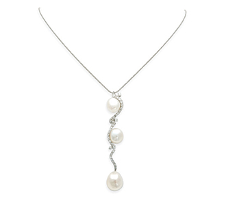 Jewelry rental diamond pearl pendant necklace white gold rent jewelry diamonds 65 tw gold 18k white length mozeypictures Choice Image