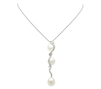 Rent Jewelry for Special Occasions: Diamond Pearl Pendant Necklace | Rental Price - $150.00